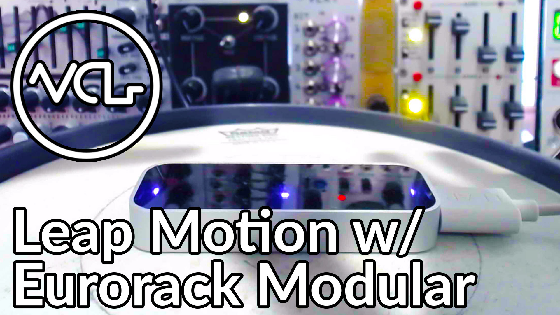 leap motion with eurorack modular synthesizer